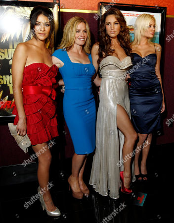"""Jessica Szohr, Elisabeth Shue, Kelly Brook, Riley Steele From left, cast members Jessica Szohr, Elisabeth Shue, Kelly Brook, and Riley Steele pose together at the premiere of """"Piranha 3D"""" in Los Angeles"""