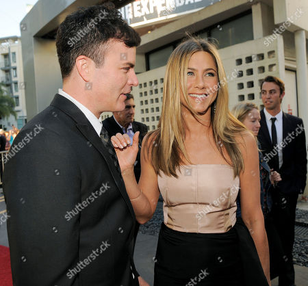 "Will Speck, Jennifer Aniston Will Speck, co-director of ""The Switch,"" mingles with cast member Jennifer Aniston at the premiere of the film in Los Angeles"