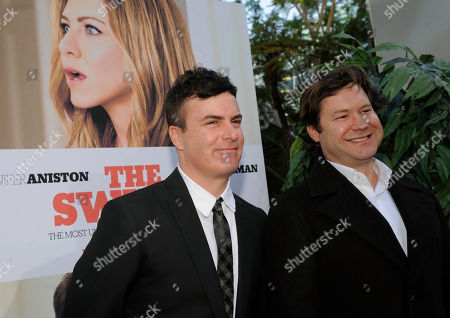 "Will Speck, Josh Gordon Will Speck, left, and Josh Gordon, co-directors of ""The Switch,"" pose together at the premiere of the film in Los Angeles"