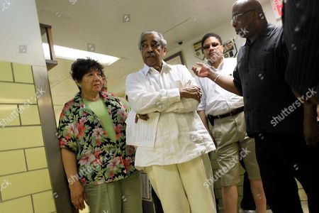 Charles B. Rangel Democratic Rep. Charles B. Rangel, center, is surrounded by supporters and aides after a news conference at Harlem Hospital, in New York. Rangel, once among the most powerful members of Congress, will face a hearing on charges of violating House ethics rules after a panel of his peers formally accused him of wrongdoing Thursday