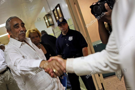 """Charles B. Rangel Rep. Charles B. Rangel, D-N.Y., is greeted by a supporter at a health care forum at Harlem Hospital, in New York. Rangel says he doesn't want """"any special breaks"""" when it comes to charges that he violated ethics rules. The 80-year-old congressman got a warm welcome when he arrived at a hospital in New York City's Harlem section on Saturday to speak about health care reform"""