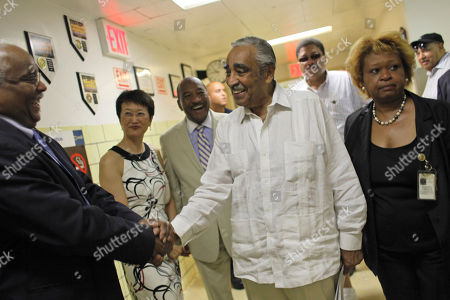 """Charles B. Rangel Rep. Charles B. Rangel, D-N.Y., is greeted as he arrives for a health care forum at Harlem Hospital, in New York. Rangel says he doesn't want """"any special breaks"""" when it comes to charges that he violated ethics rules. The 80-year-old congressman got a warm welcome when he arrived at a hospital in New York City's Harlem section on Saturday to speak about health care reform"""