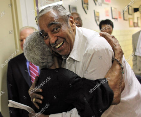 """Charles B. Rangel Rep. Charles B. Rangel, D-N.Y., is greeted by a supporter as he arrives at a health care forum at Harlem Hospital, in New York. Rangel says he doesn't want """"any special breaks"""" when it comes to charges that he violated ethics rules. The 80-year-old congressman got a warm welcome when he arrived at a hospital in New York City's Harlem section on Saturday to speak about health care reform"""