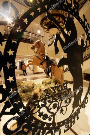 """The preserved remains of Roy Rogers' horse """"Trigger"""" and dog """"Bullet"""" are on display at Christies auction house in New York, . Christie's held a preview Friday an upcoming auction of items from the now-closed Roy Rogers and Dale Evans Museum in Branson, Mo"""