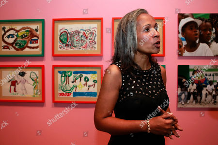 Elisabeth Preval Haiti's first lady Elisabeth Preval visits the Smithsonian's Ripley Center where a display of paintings and drawings made by Haiti's children after the earthquake is being exhibited, in Washington, on