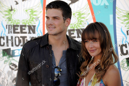 Rick Malambri, Sharni Vinson Rick Malambri and Sharni Vinson arrive at the Teen Choice Awards on in Universal City, Calif