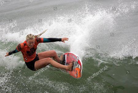 Editorial image of US Open Surfing, Huntington Beach, USA