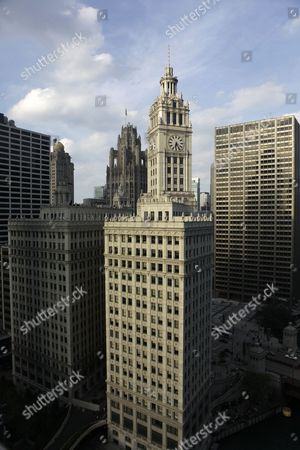 This July 14, 2010 photo shows the Wrigley Building on Michigan Avenue, in Chicago. The Wm. Wrigley Jr. Co. announced, the iconic Chicago skyscraper has been sold to the Chicago-based investment firm of BDT Capital Partners. Groupon co-founders Brad Keywell and Eric Lefkofsky and Zeller Realty Group are minority partners in the deal. The buyers are seeking landmark status for the 90-year-old building