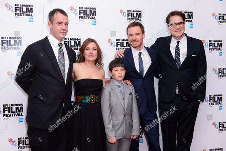 Stock Image of Alastair Siddons, Michael Fassbender, Lyndsey Marshal and Adam Smith