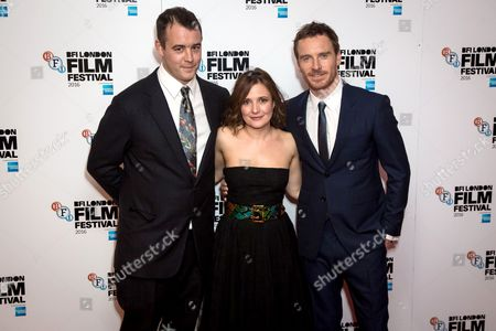 Alastair Siddons, Lyndsey Marshal and Michael Fassbender