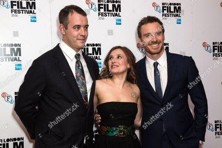 Stock Photo of Alastair Siddons, Lyndsey Marshal and Michael Fassbender