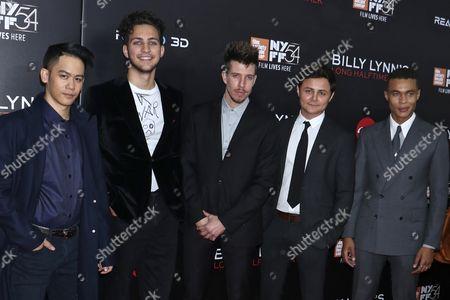 Stock Image of Mason Lee, Barney Harris, Beau Knapp, Arturo Castro and Ismael Cruz Cordova