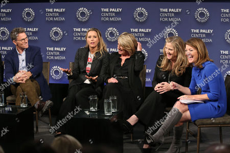 Tim Daly, Tea Leoni, Barbara Hall, Lori Mccreary and Norah O'Donnell