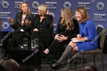 Tea Leoni, Barbara Hall, Lori Mccreary and Norah O'Donnell