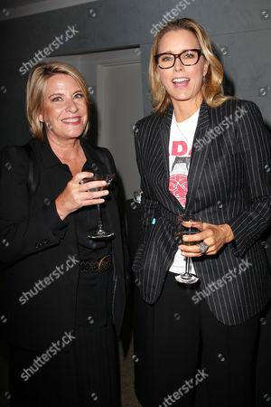 Barbara Hall and Tea Leoni
