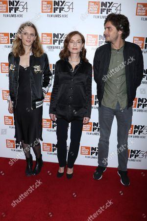 Stock Image of Mia Hansen-Love, Isabelle Huppert and Roman Kolinka
