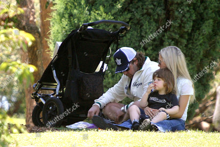 Russell Crowe with wife Danielle Spencer and son, Charles Spencer Crowe at the 'The Wind In The Willows' pantomime. The ticket price was $25.oo per person or a family ticket was $85.oo (max 4 persons).