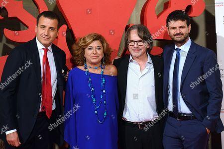 Luca and Matilde Bernabei, Andrea Fabiano, Frank Spotnitz