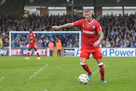 Paul Konchesky of Gillingham during the EFL Sky Bet League 1 match between Bristol Rovers and Gillingham at the Memorial Stadium, Bristol