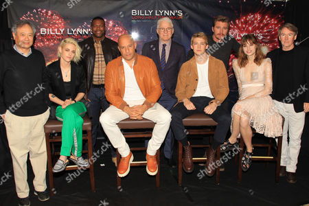 Stock Picture of Ang Lee, Kristen Stewart, Chris Tucker, Vin Diesel, Steve Martin, Joe Alwyn, Garrett Hedlund, Makenzie Leigh, Ben Fountain