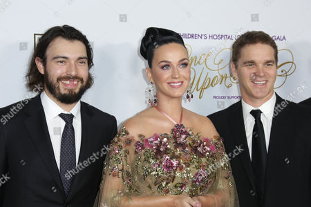 Drew Doughty, Katy Perry and Luc Robitaille