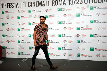 Director Paul Dugdale poses for photographers during a photocall presenting his movie ' The Rolling Stones Ole' Ole' Ole'!: A trip Across Latin America ' at the Rome Film festival in Rome
