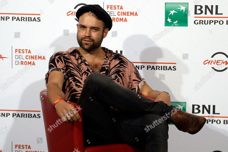 Stock Image of Director Paul Dugdale poses for photographers during a photocall presenting his movie ' The Rolling Stones Ole' Ole' Ole'!: A trip Across Latin America ' at the Rome Film festival in Rome