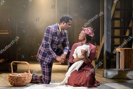 Stock Picture of Ako Mitchell (Coalhouse), Jennifer Saayeng (Sarah)