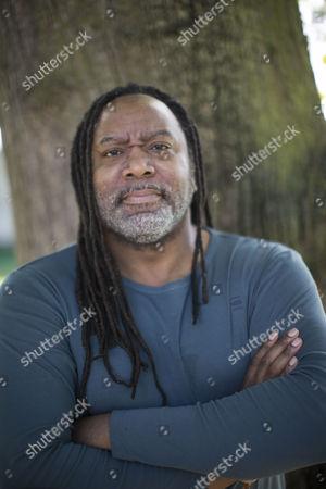 Reginald D Hunter poses for a photograph at the Cheltenham Literature Festival.