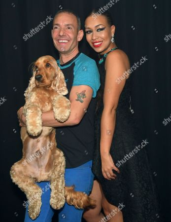 Rebecca Ferguson, Jeremy Joseph and his dog Jacob