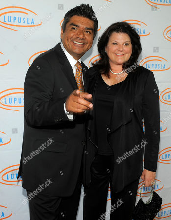 George Lopez Host George Lopez and his wife Ann arrive at the 10th Annual Lupus LA Orange Ball in Beverly Hills, Calif