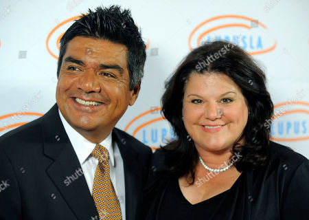 George Lopez George Lopez and his wife Ann arrive at the 10th Annual Lupus LA Orange Ball in Beverly Hills, Calif