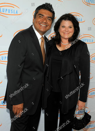George Lopez Host George Lopez and his wife Ann pose together at the 10th Annual Lupus LA Orange Ball in Beverly Hills, Calif