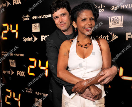 "Carlos Bernard, Penny Johnson Jerald Former ""24"" cast members Carlos Bernard, left, and Penny Johnson Jerald pose together at the ""24"" Series Finale Party in Los Angeles"