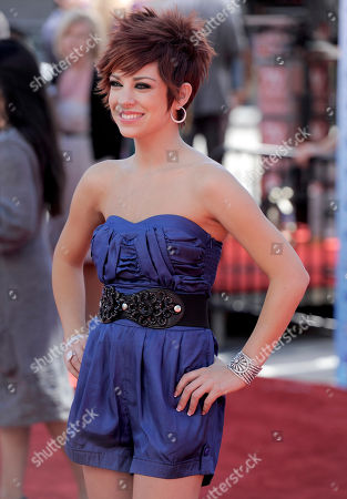 """Stock Image of Lacey Brown Lacey Brown arrives at the """"American Idol"""" finale, in Los Angeles"""