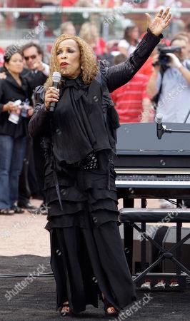 Roberta Flack Roberta Flack sings 'Imagine' during pre-game ceremonies at Major League Baseball's civil rights game between the St. Louis Cardinals and Cincinnati Reds, in Cincinnati