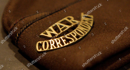 Items used by Walter Cronkite as a war correspondent are seen in a display at the Walter Cronkite exhibit at the LBJ Library, in Austin, Texas