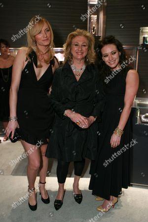 Amber Valletta, Sybil Yurman  and Hilary Duff