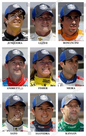 Bruno Junqueira, Alex Lloyd, Mario Romancini, John Andretti, Sarah Fisher, Vitor Meira, Takuma Sato, Tony Kanaan, Sebastian Saavedra The starting field for the 2010 Indianapolis 500 auto race is shown after they qualified May 22 and 23, 2010 at the Indianapolis Motor Speedway in Indianapolis, . Row nine: Bruno Junqueira, of Brazil; Alex Lloyd, of England; Mario Romancini, of Brazil. Row ten: John Andretti; Sarah Fisher; Vitor Meira, of Brazil. Row eleven: Takuma Sato, of Tokyo; Sebastian Saavedra, of Colombia; Tony Kanaan, of Brazil