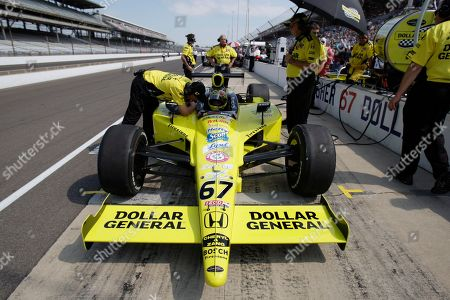 Sarah Fisher Sarah Fisher during the final practice session for the Indianapolis 500 auto race at the Indianapolis Motor Speedway in Indianapolis, . The race will be run Sunday