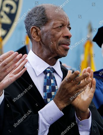 Stock Photo of Ornette Coleman Jazz musician Ornette Coleman is pictured before receiving an honorary Doctor of Music degree at the University of Michigan commencement ceremony in Ann Arbor