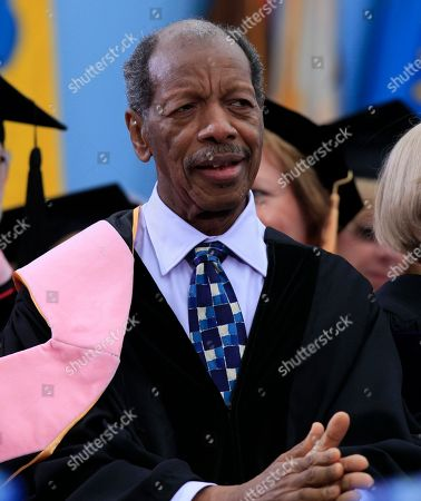 Stock Image of Ornette Coleman Jazz musician Ornette Coleman is pictured after he received his honorary doctor of music degree at the University of Michigan graduation ceremony in Ann Arbor, Michigan