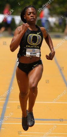 Stock Image of Keshia Baker Oregon's Keshia Baker wins the 400 meter dash, during Pac-10 track and field championships in Berkeley, Calif