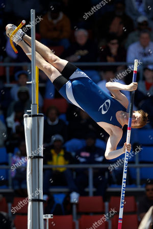 Stock Photo of James Weiss James Weiss, from Quakertown High School in Quakertown, Pa., competes in the pole vault championships at the Penn Relays athletics meet, in Philadelphia