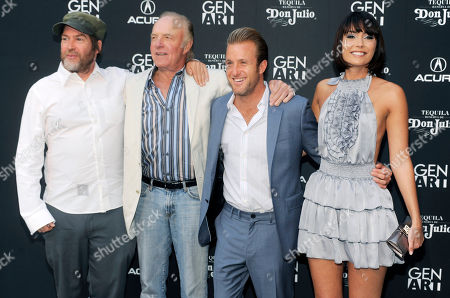 """James Caan, Scott Caan, Patrick Hoelck, Wendy Glenn Scott Caan, second from right, writer/producer/star of the film """"Mercy,"""" poses with the film's director Patrick Hoelck, far left, and fellow cast members James Caan and Wendy Glenn at the premiere of the film in Los Angeles, . James Caan is Scott's father"""