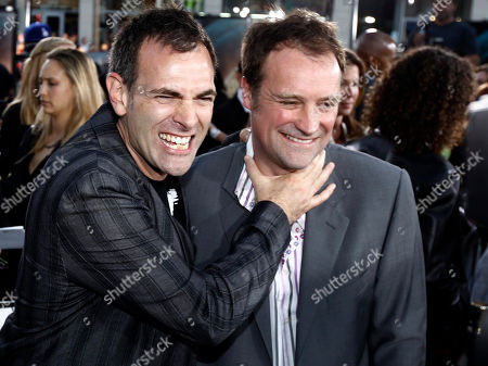 "Vincenzo Natali, David Hewlett Director Vincenzo Natali, left, and cast member David Hewlett pose together at the premiere of ""Splice"" in Los Angeles on"