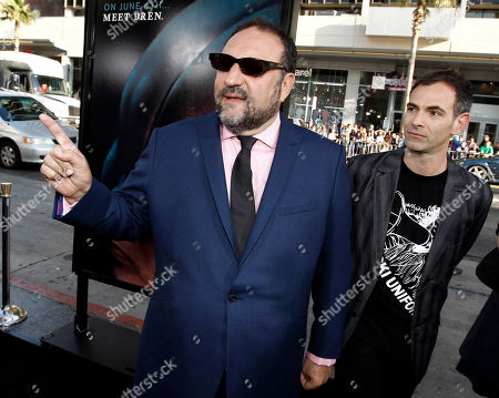 "Joel Silver, Vincenzo Natali Producer Joel Silver, left, and director Vincenzo Natali pose together at the premiere of ""Splice"" in Los Angeles on"