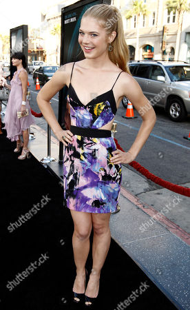 """Kate Lang Johnson Actress Kate Lang Johnson arrives at the premiere of """"Splice"""" in Los Angeles on"""