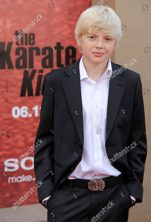 """Stock Photo of Luke Carberry Luke Carberry poses at the premiere of the film """"The Karate Kid"""" in Los Angeles"""