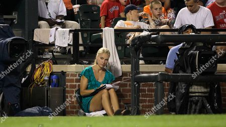 Heidi Watney NESN's Red Sox Reporter Heidi Watney sits in the third base photo well during the Baltimore Orioles and Boston Red Sox baseball game, in Baltimore. The Red Sox won 8-2
